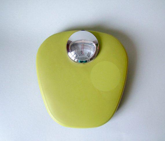 Photo Gallery In Website Vintage German Krups scale Mid Century Modern bathroom scale Eames Panton era s s chartreuse yellow