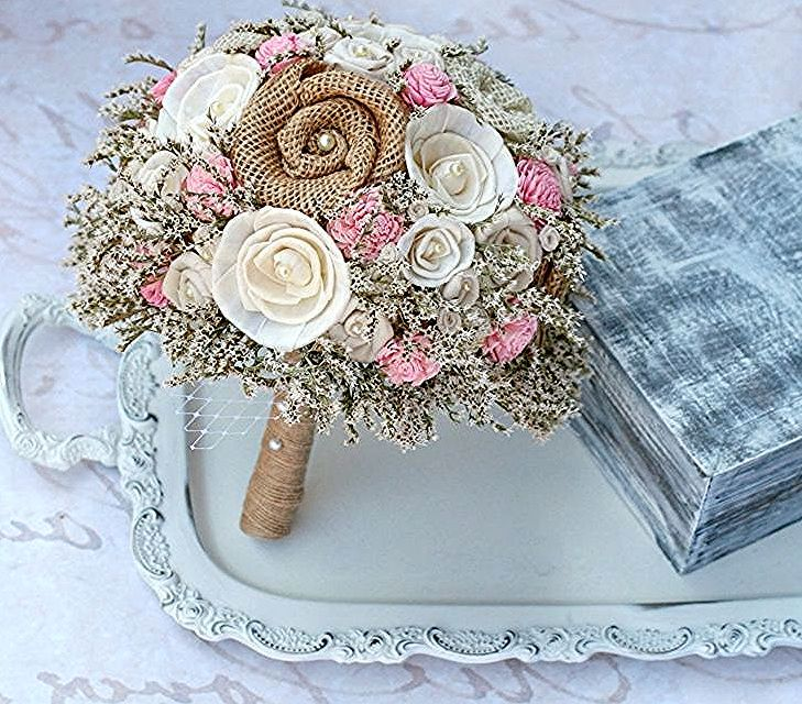 Mazzi Di Fiori Particolari Bouquet Fiori Stoffa Stile Shabby Chic Rose Gold Watch Rose Gold Watch