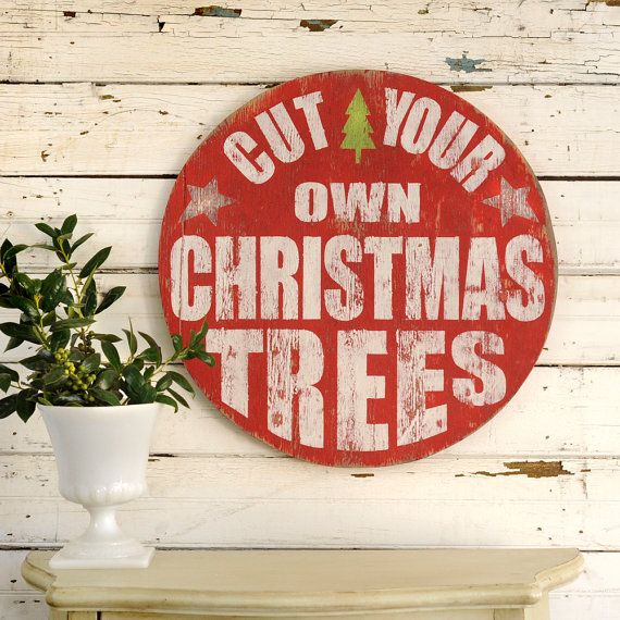 Theres something special about cutting your own Christmas Tree and this Retro-style holiday decor captures that magic. Size: 23 H x 23 W x .5 D