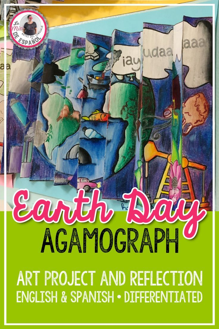 La Arte In Spanish Earth Day Agamograph Arte Óptico Del Día De La Tierra English