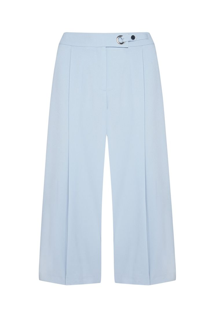Falda pantalón azul pastel detalle metal