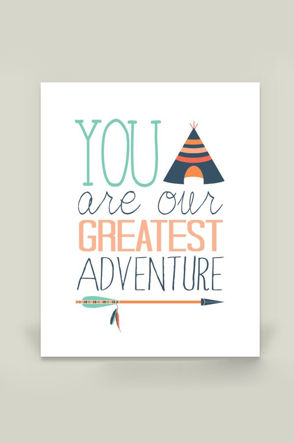 """You are our Greatest Adventure"" nursery wall print by Artist ZoomBooneCreations on BoomBoom Prints"