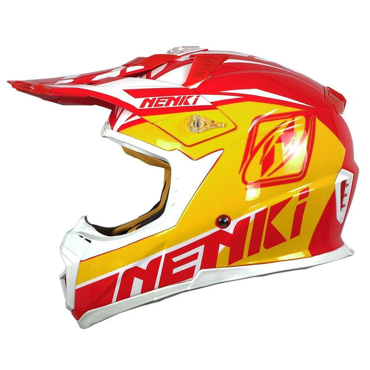 NENKI Fiberglass Men Women Motocross Racing Helmet Windproof Motorcycle Cross-Country Helmet Dirt Motorbike Helmet Casque Moto