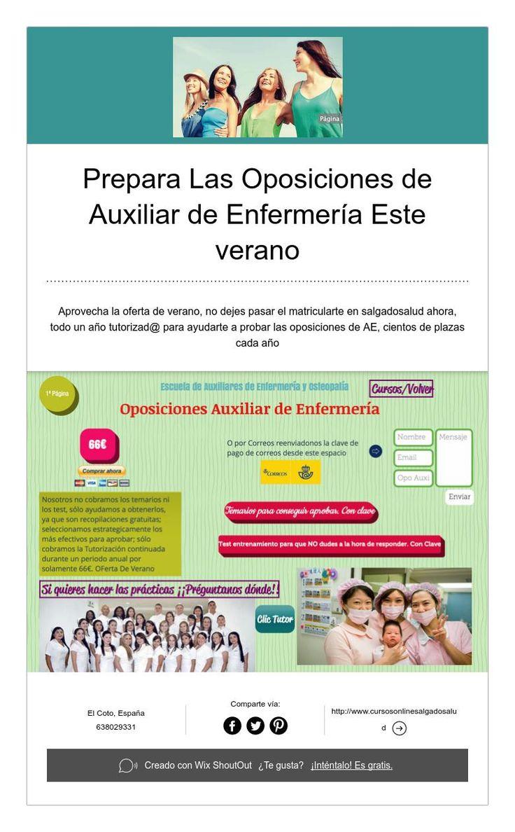 Prepara Las Oposiciones de Auxiliar de Enfermería Este verano