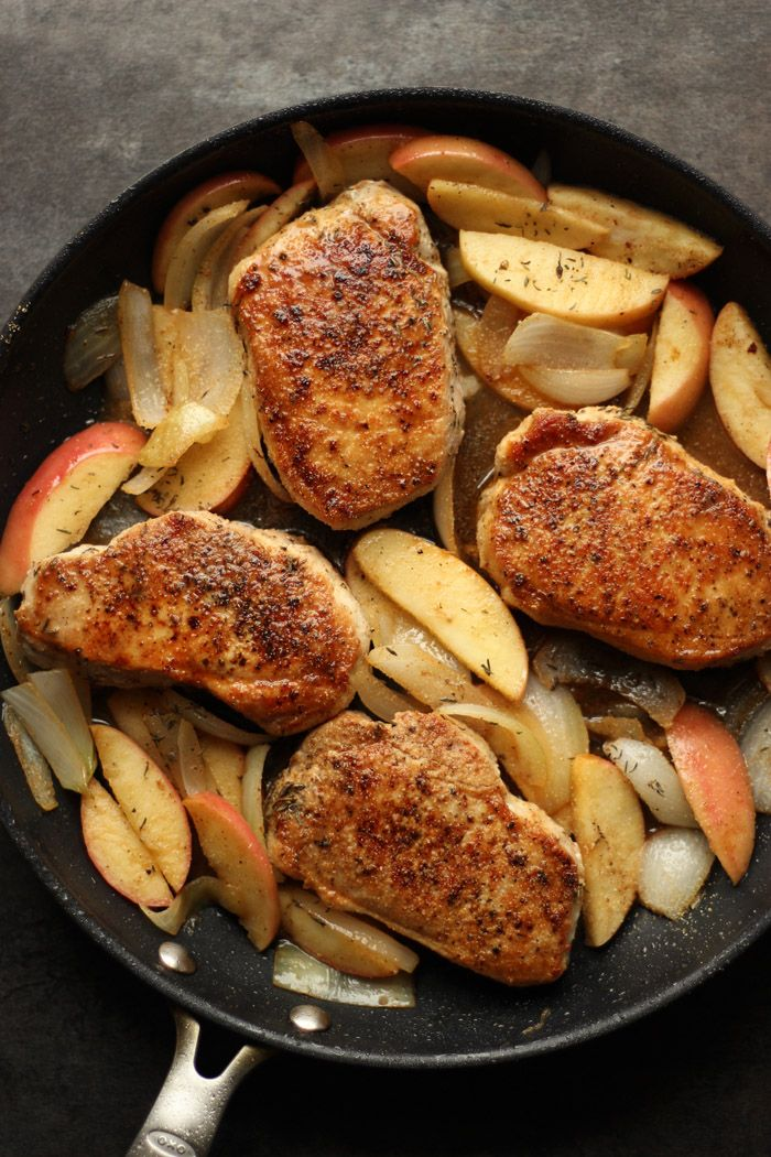 Best 25 paleo pork chops ideas on pinterest healthy pork easy apple cider pork chops are gluten free paleo and whole 30 friendly ccuart Images