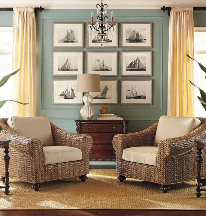The Sophisticated Coastal Look Of St Maarten Living Room ChairsLiving