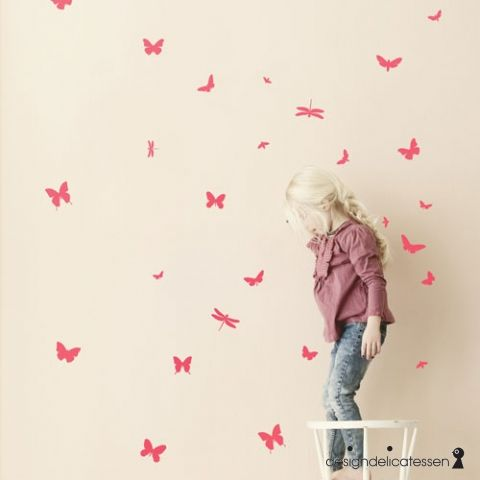 Køb - Ferm Living - wall stickers - mini butterflies