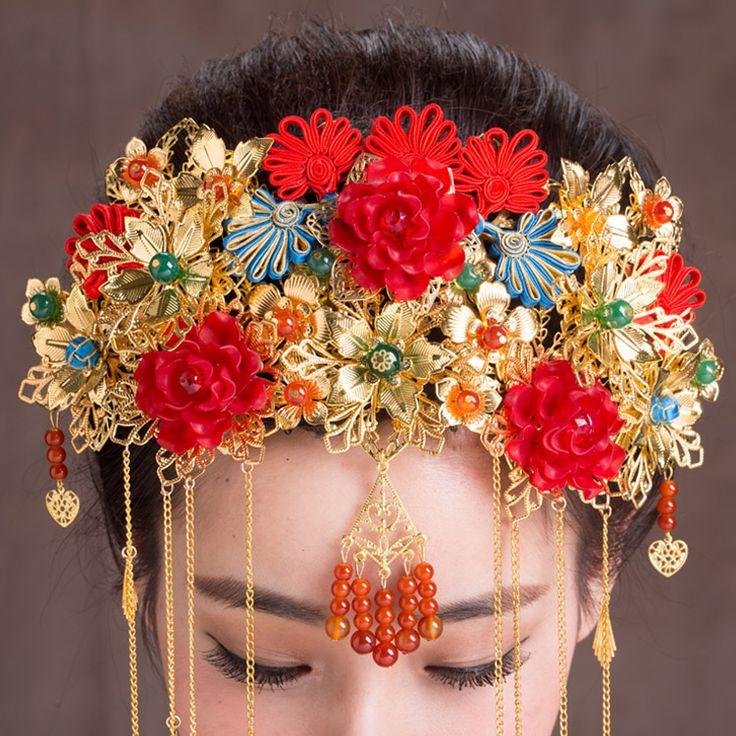 Aliexpress.com : Acquista Cinese tradizionale copricapo da sposa etnici monili…
