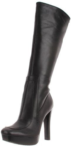 Calvin Klein Women's Britton Calf Boot,Black,9.5 M US