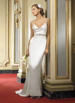 Simple sheath wedding dresses Miami | The Wedding Specialists