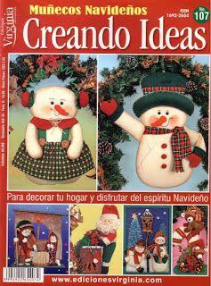 como hacer muñecos navideños de tela