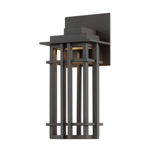 Nest Bronze 6-Inch LED Outdoor Wall Light