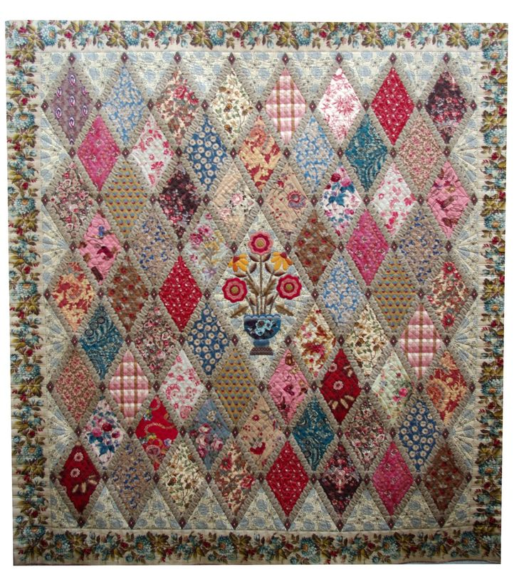 Love the little sashing on the diamonds!  Quilts on Bastings: A Finished Jane Austen Quilt