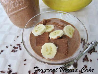 Fragrant Vanilla Cake: Raw Cacao PB Crunch Cereal with Mocha Hemp Milk
