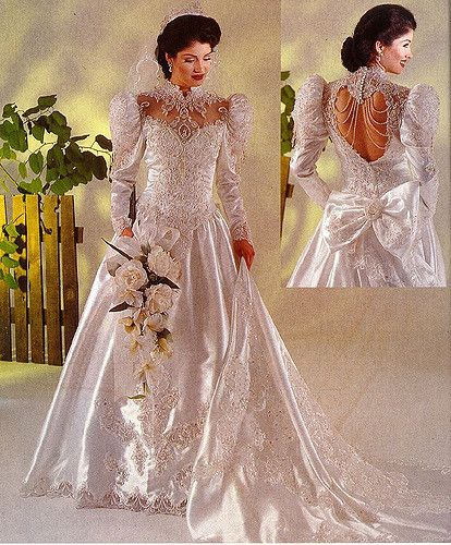 Vintage Wedding Dresses 80s