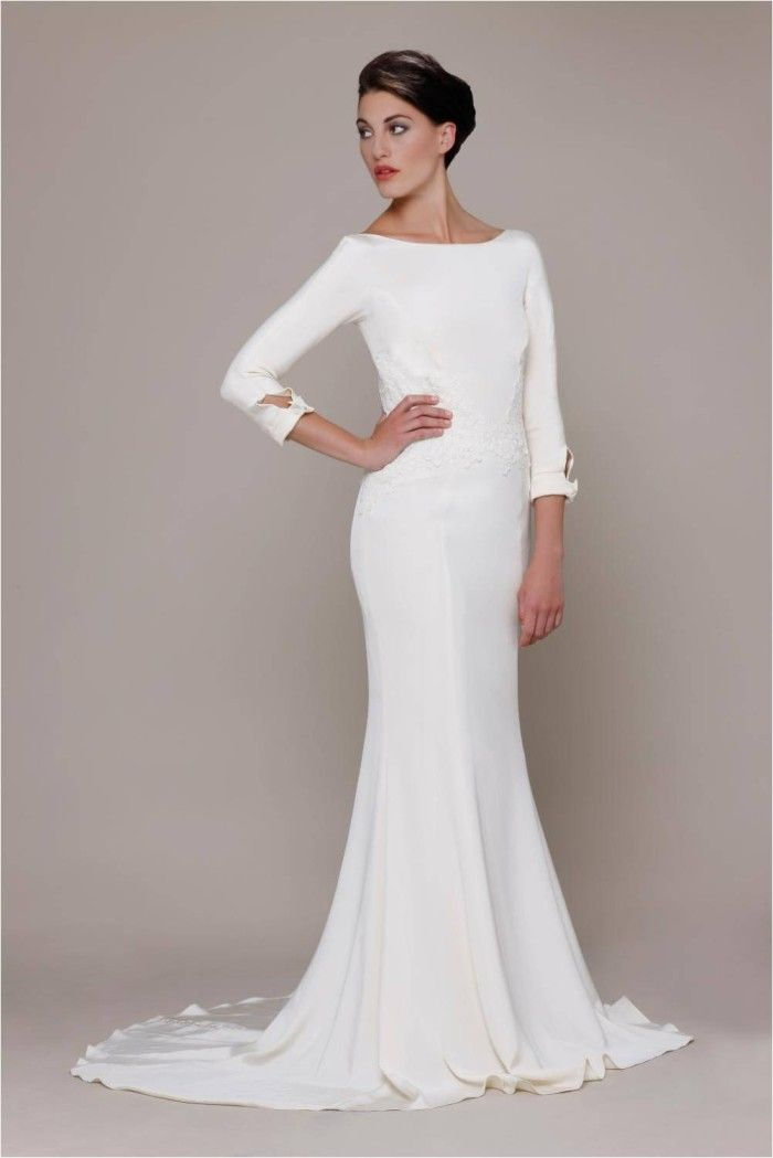 Long sleeve wedding dresses 700 1049 winter for Long sleeve casual wedding dresses