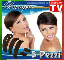 ♥BUMPITS CLIP FERMAGLIO CAPELLI NERI ACCONCIATURE VOLUME VINTAGE 60♥70 EXTENSION