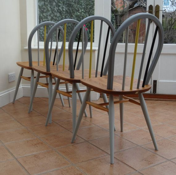 Restored and painted Ercol Windsor chairs by RestoredbyLiat