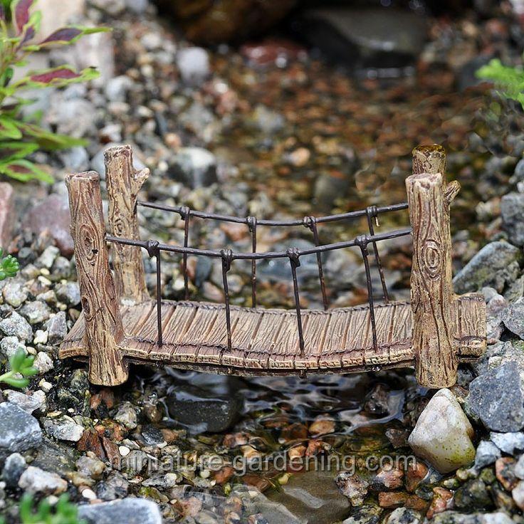 Suspension Bridge  #miniature-gardening.com