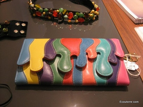Rainbow clutch by Dora Abodi