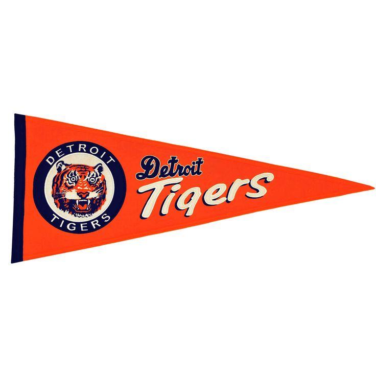 Detriot Tigers Wool Cooperstown Pennant