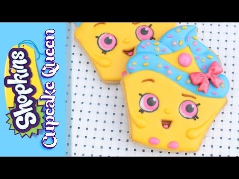 Shopkins Cookie - How to make a Shopkins Cupcake Queen Cookie - Make your own Shopkins tutorial - YouTube