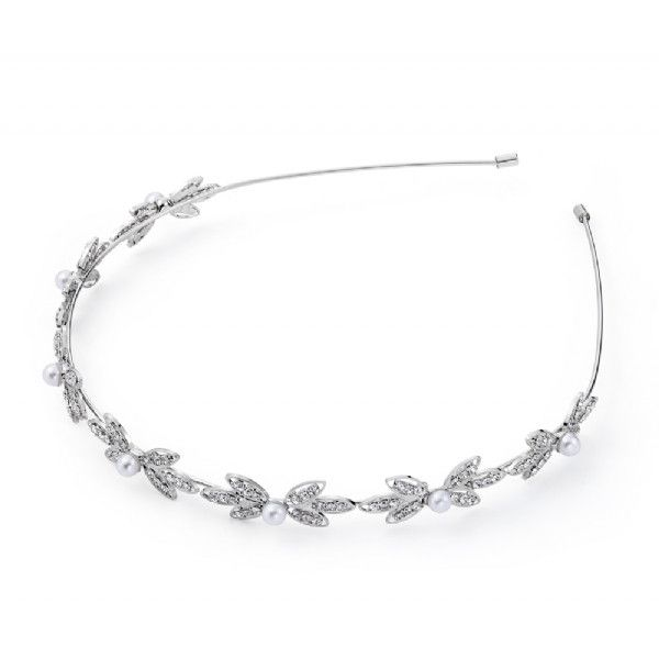 Silver+with+Crystal+and+Pearl+Hairband+from+ClutchandClasp+by+DaWanda.com