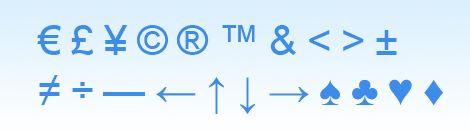Специальные символы HTML Управляющие HTML символы и греческий алфавит