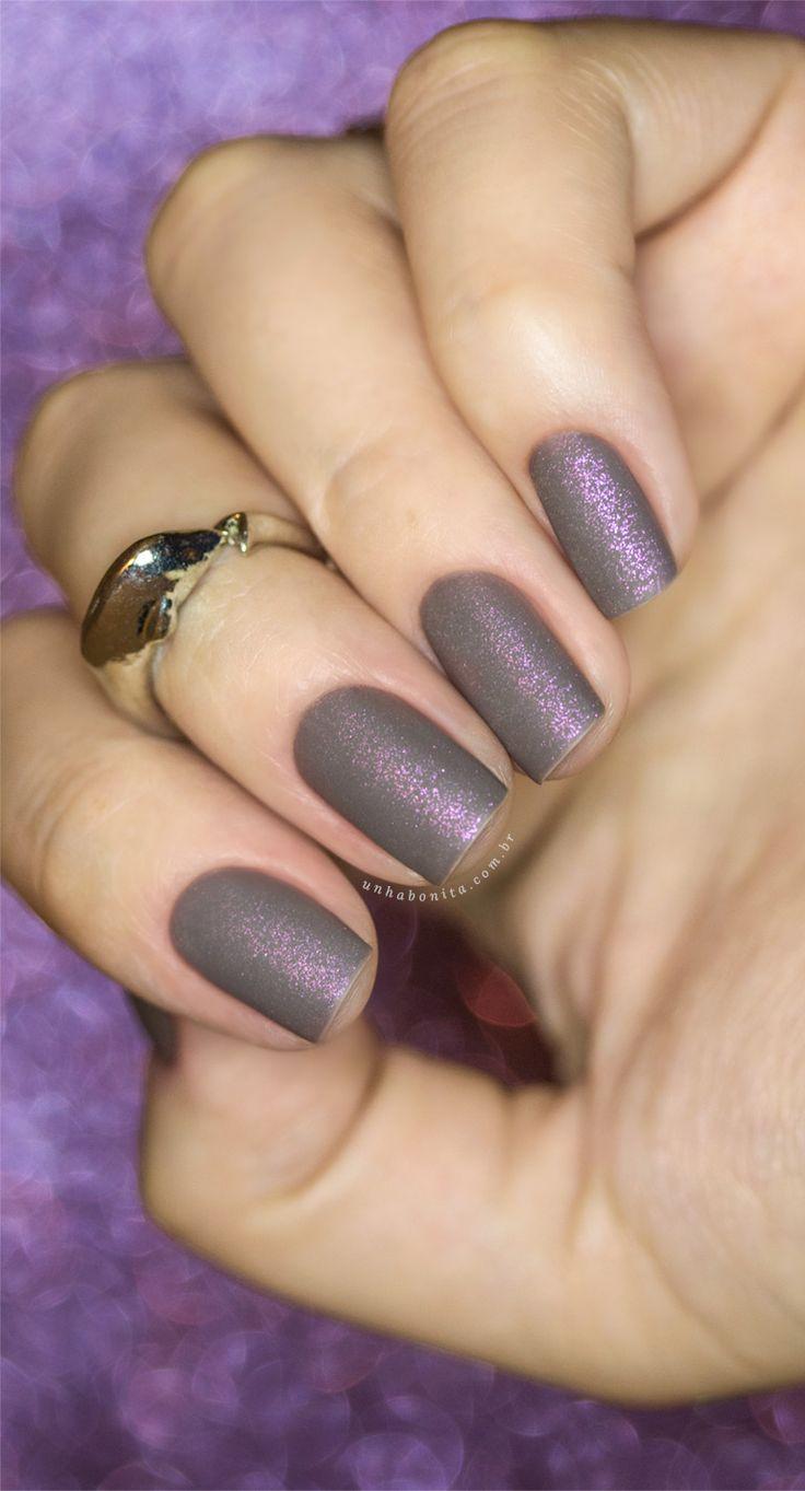 Combinando Esmaltes: cinza rosado metálico e fosco