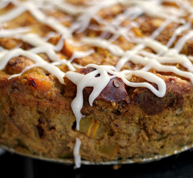 Pumpkin Pie Bread Pudding With Bourbon Icing (1) From: Joanne Eats Well With Others, please visit