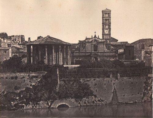 Rome, Cloaca Maxima at Foro Boario 1850-1852