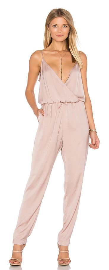 "James jumpsuit by Capulet. Self & Lining: 100% poly. Dry clean only. Elastic waist. Side seam pockets. Body measures approx 30"""" in length18"""" a..."
