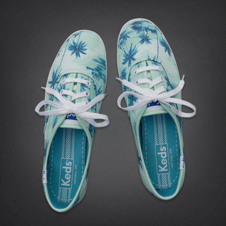 Bettys Hollister + Keds Champion Tropical Print Sneakers | Bettys Hollister + Keds | HollisterCo.com
