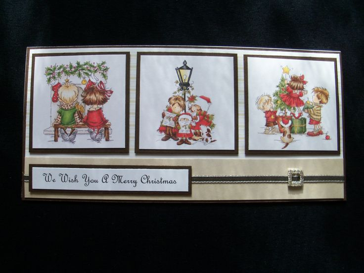 Lili Of The Valley Christmas Trio topper card