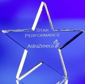 STAR CRYSTAL PAPERWEIGHT & AWARD
