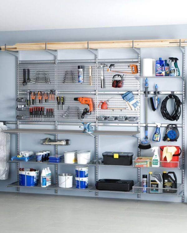 Rangement Garage Mural Rangement Garage Rangement Amenagement Garage