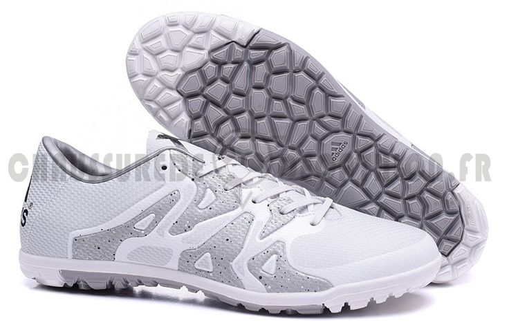 Adidas x 153 tf blanc gris in 2020 soccer shoes soccer