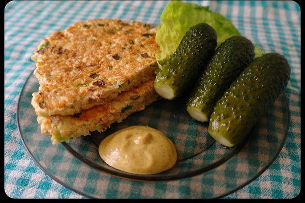 Omlet łososiowo-otrębowy