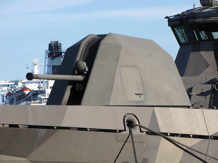 Missile boat Pori bow 57 mm gun.JPGBofors 57 mmFlag of Sweden.svg SueciaCañón naval