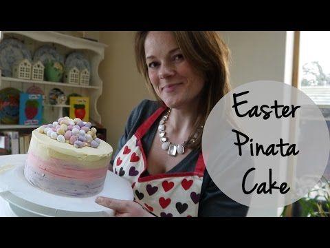 Piñata Ombré Mini Egg Easter Cake Tutorial   TamingTwins.com - YouTube