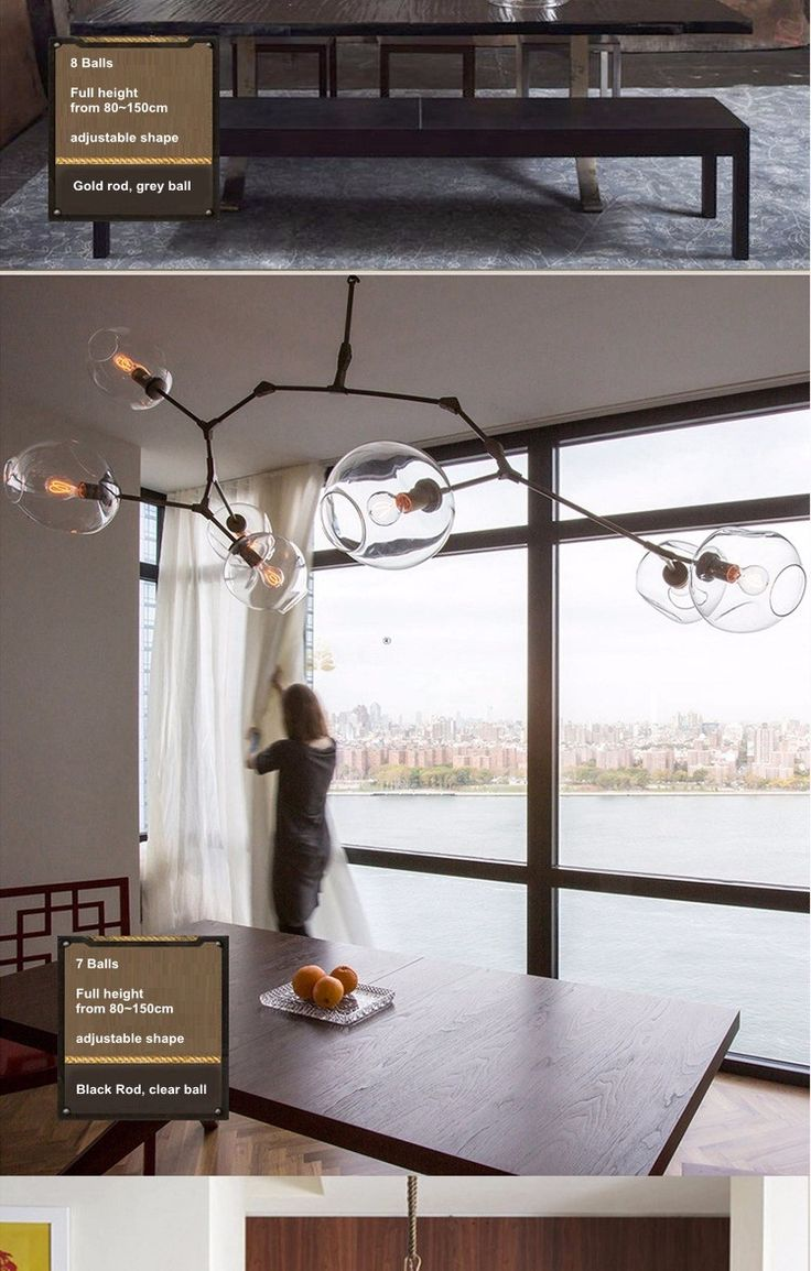 Clear Glass Pendant Living Room Contemporary Decorating Decoration
