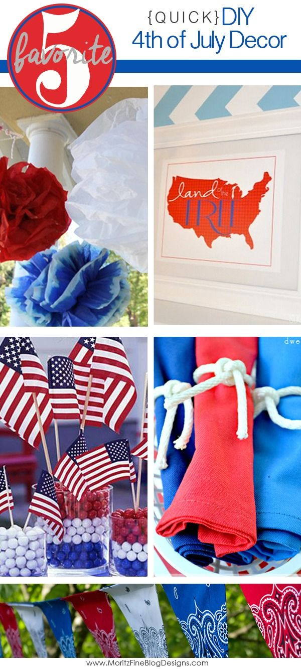 Diy quick 4th of july decorations crafts knots and for 4th of july party decoration