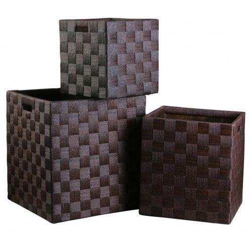 Storage Box Square - Set of Three - Paper Rope £259.99