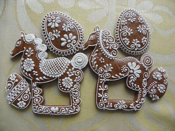 velikonoce - ornamentoví kůňové