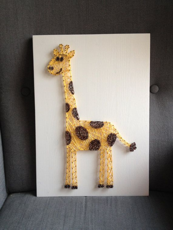 MADE TO ORDER String Art Giraffe Sign by TheHonakerHomeMaker