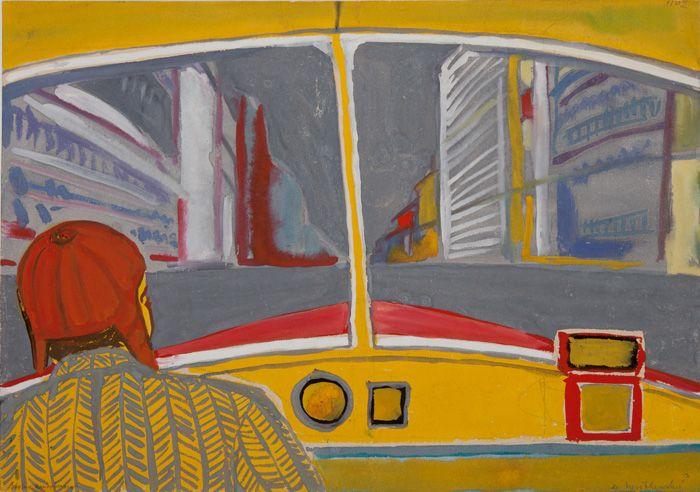 thunderstruck9:  Andrzej Wróblewski (Polish, 1927-1957), Bus Driver, 1956. Gouache on cardboard. viaamare-habeo