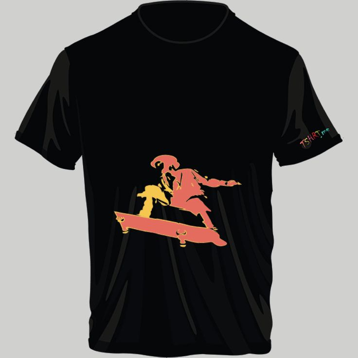 skateboarding; t-shirt unisex, woman, child, 9 colors, several sizes; shipping worldwide; 17€ + shipping rates
