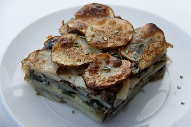 Mushroom and Spinach Potato Gratin | Foodie | Pinterest
