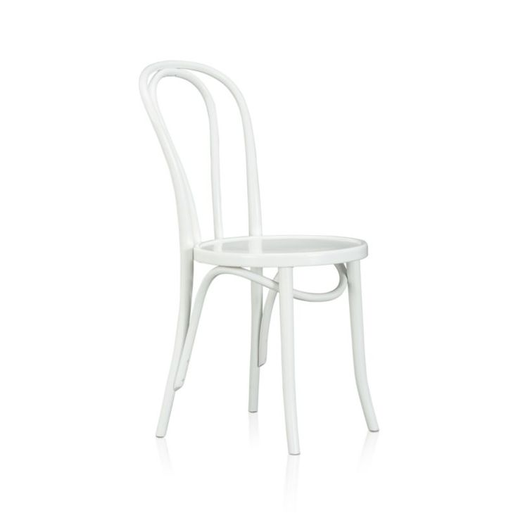 Vienna White Wood Dining Chair | Crate and Barrel