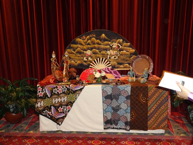 Display Indonesian Handicraft